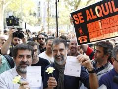 Jordi Cuixart and Jordi Sanchez